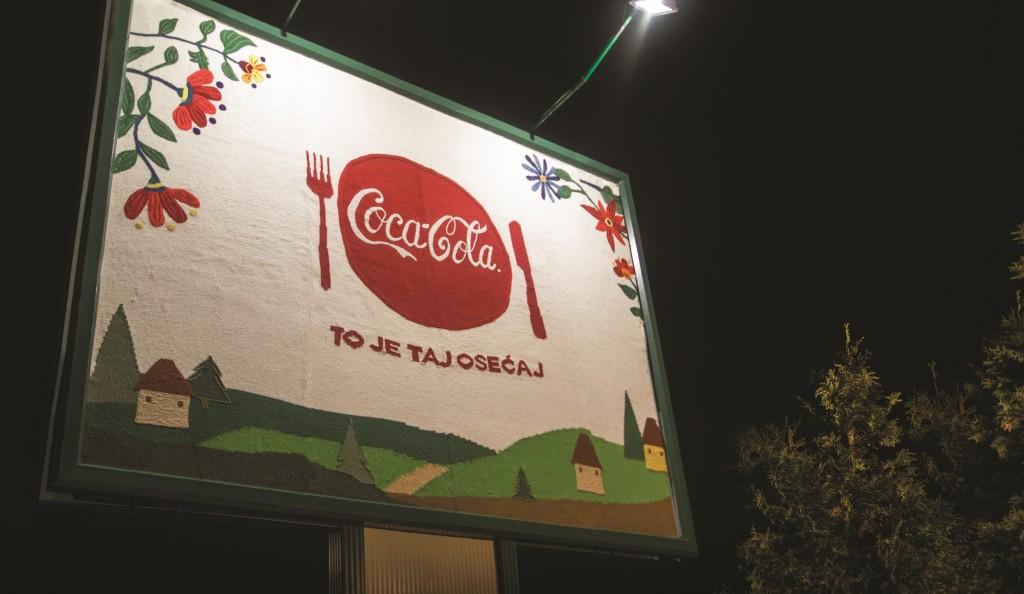 Coca-Cola pleteni tkani bilbord